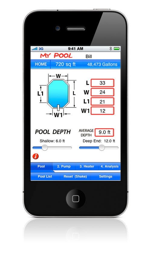 Welcome To My Pool Iphone App Home Page
